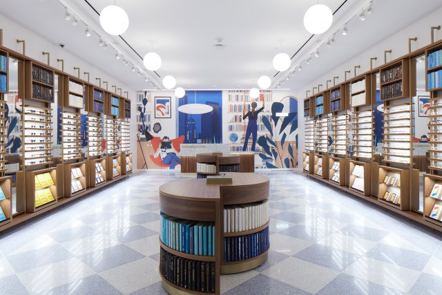 interior of warby parker
