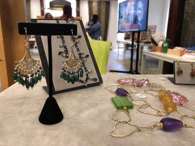 jewelry on a store shelf