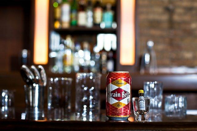 grain belt premium in a can on a bar