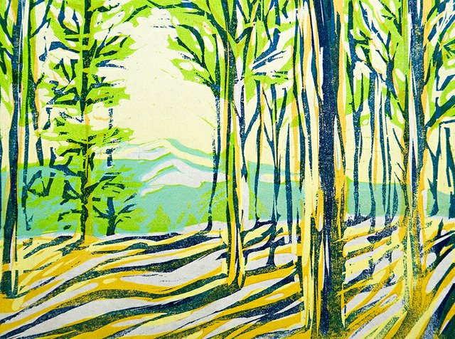 Morgan Moen painting Rhythms
