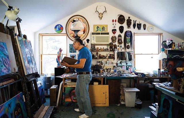 Jim Denomie's studio