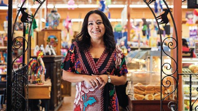 Milissa Silva-Diaz at El Burrito Mercado