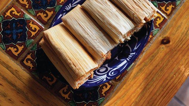 Tamales at El Burrito Mercado