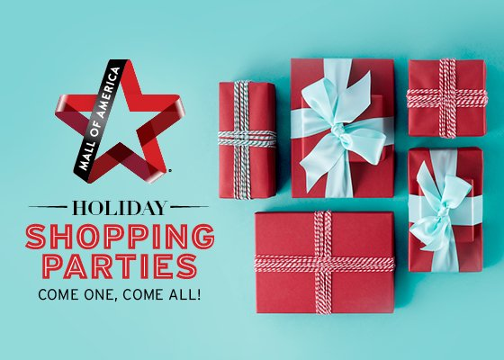 Mall of America Holiday Shopping Parties