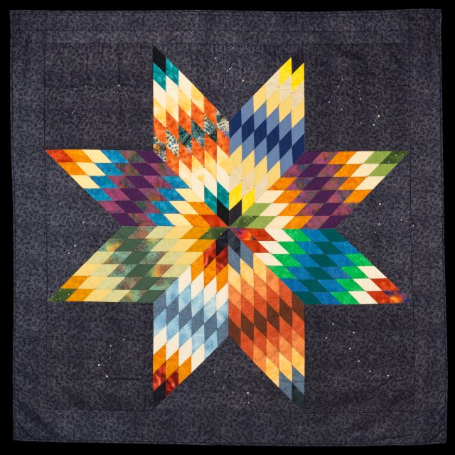 """Star Knowledge"" star quilt made by Gwen Westerman"