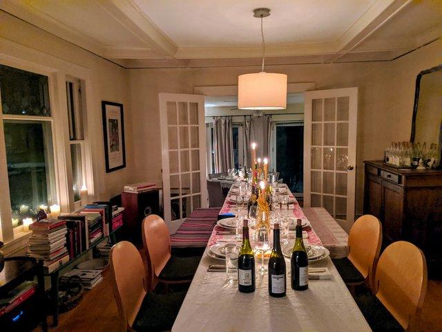 Bill Summerville's dining room