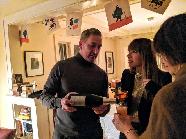 Bill Summerville serving his guests