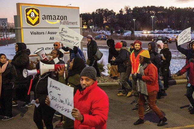 Amazon Workers Strike in Shakopee