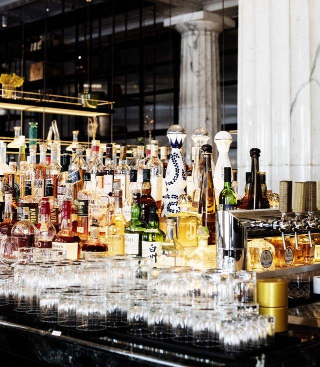Stocked bar at Giulia