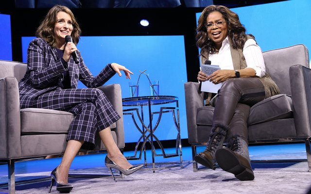 Oprah Winfrey and Tina Fey