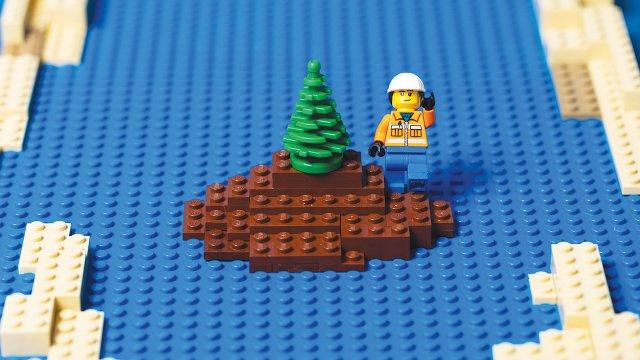 Island built with Legos