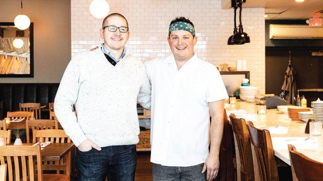 Peter-Sebastian and Chef Jason Hansen