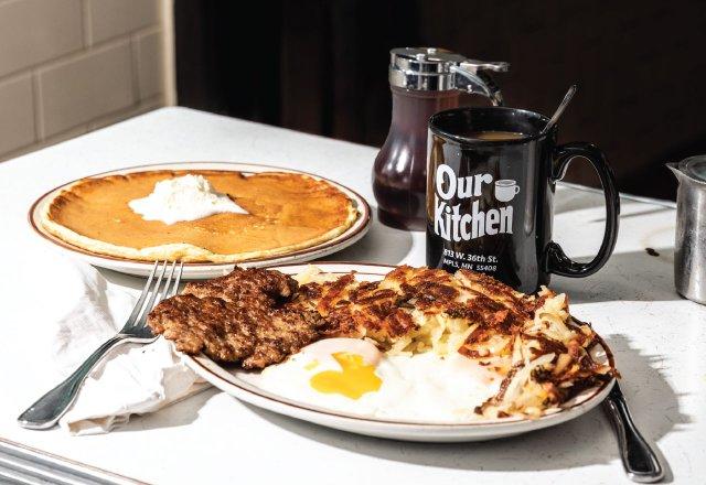 big counter top  breakfast