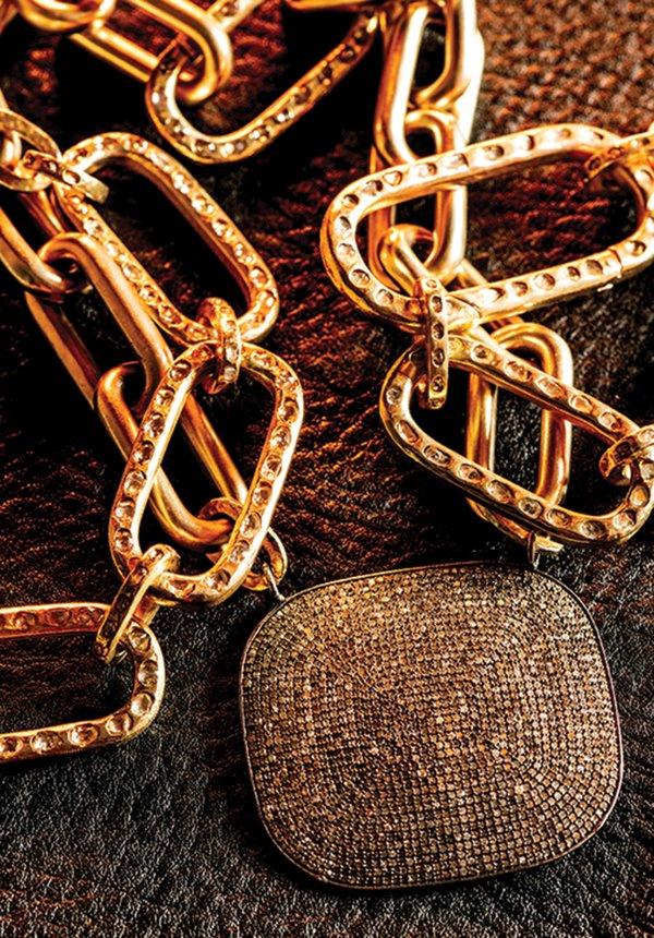 A jewelry piece by Gretchen Ventura