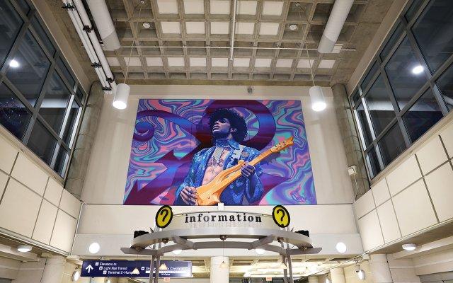 Prince mural at Minneapolis St. Paul Airport