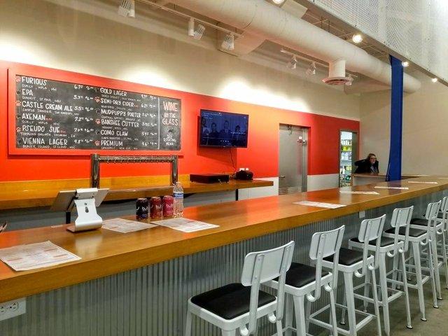brewpub counter