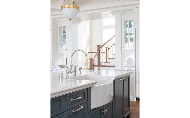 Rohl sink in the kitchen island