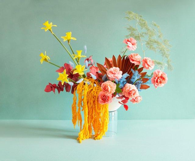 Artful floral arrangement at Ergo