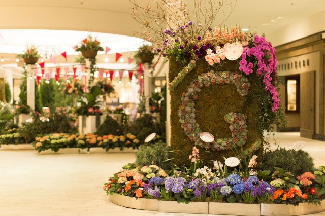 Bachman's floral display at Galleria