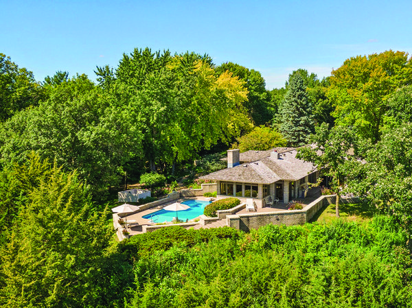 Hillside home with pool