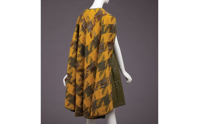 Wool-and-leather cape (1970)