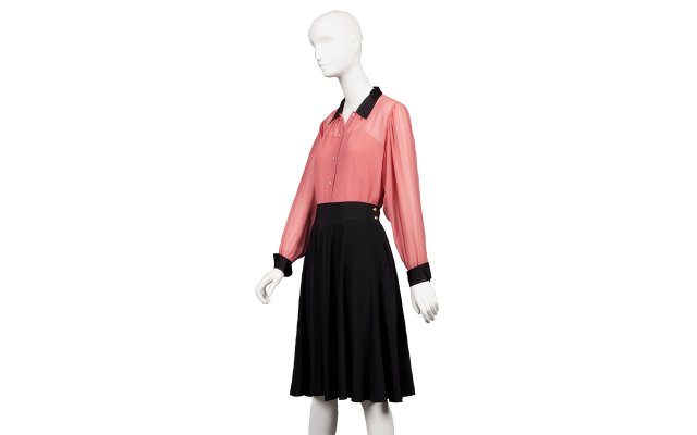 Jacket, camisole, and skirt (1980–85)