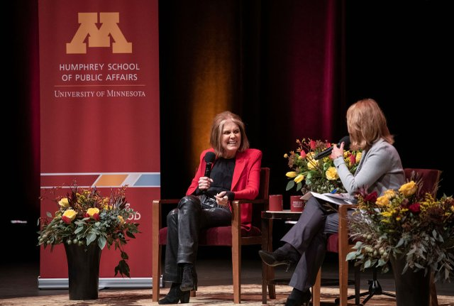 Gloria Steinem and Kerri Miller at Northrop