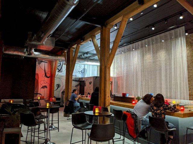The upper bar area of Stilheart bar.