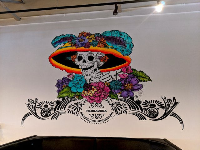 Day of the Dead mural at Pajarito