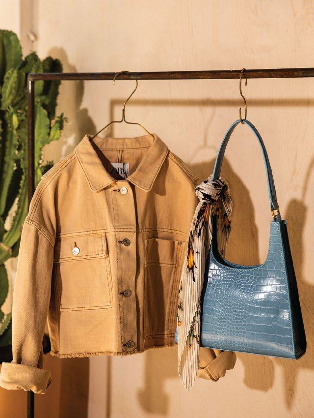 Jacket and purse