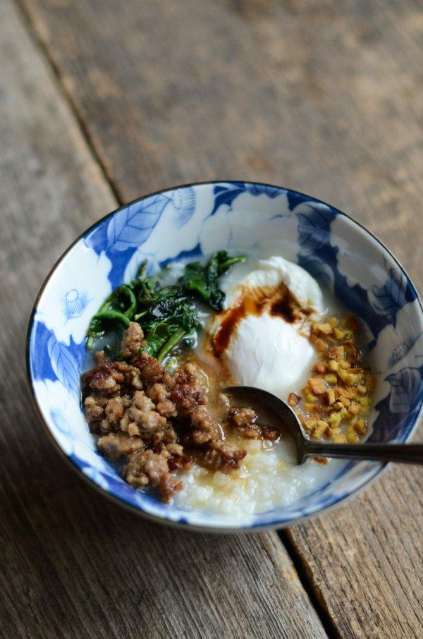 Bowl of homemade congee