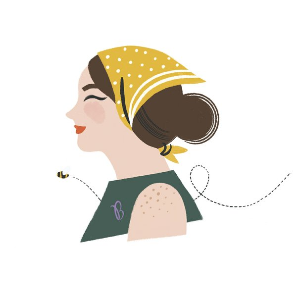 Ms. B June Illustration