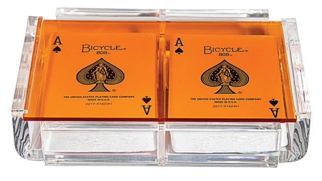 Orange luxe card deck