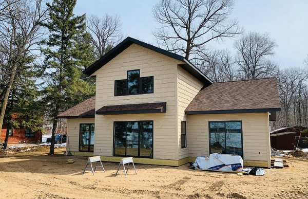 New construction in Crosslake