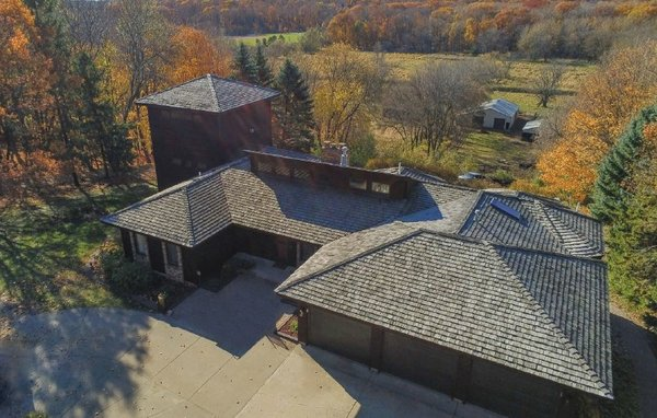 Aerial view of Maple Grove home