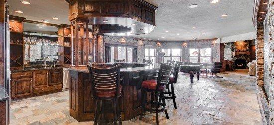 Indoor bar and rec room