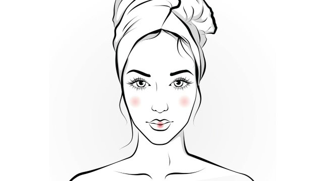 illustration of fresh-faced woman