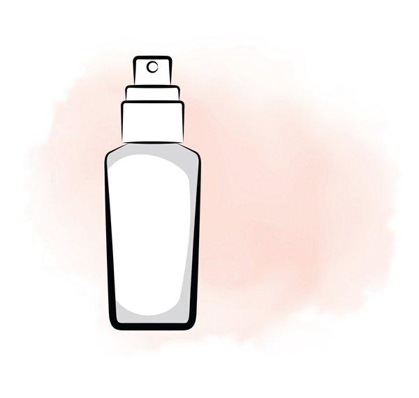 Illustration of moisturizer bottle