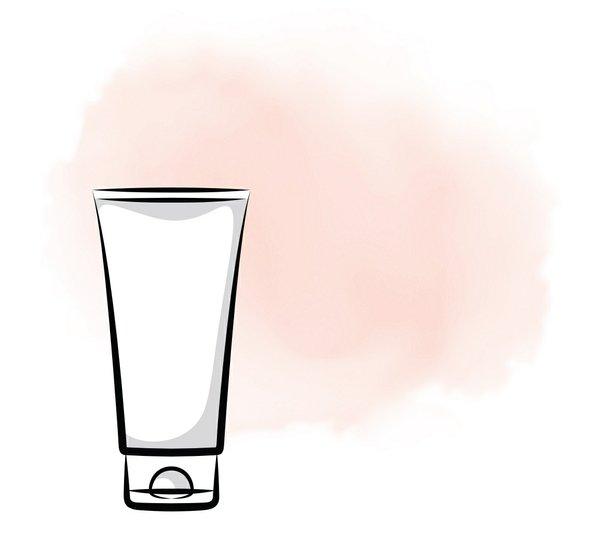 Illustration of skincare tube