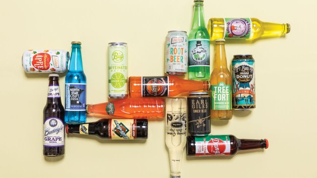 Lots of local soda pop