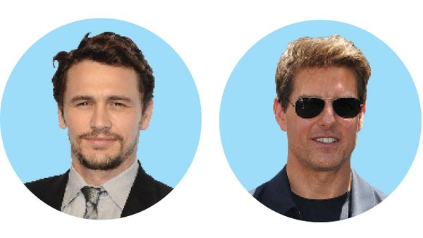 James Franco and Tom Cruise