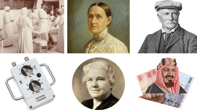 six historical hospital images