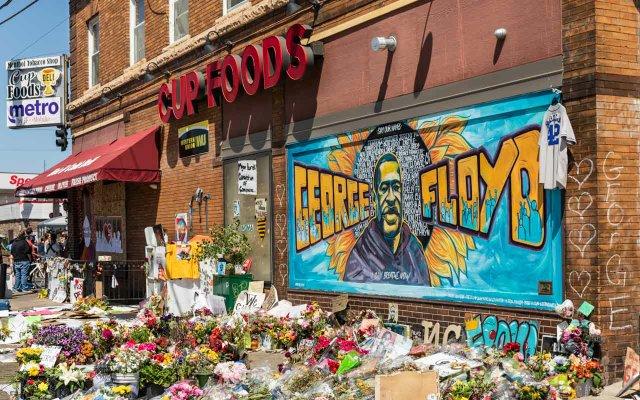 George Floyd Mural Cup Foods