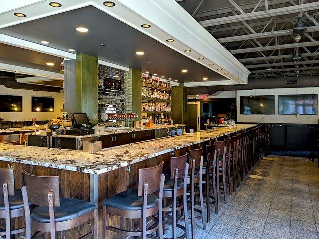 bar inside Handsome Hog