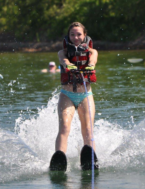 Natalie Waterskiing 2013