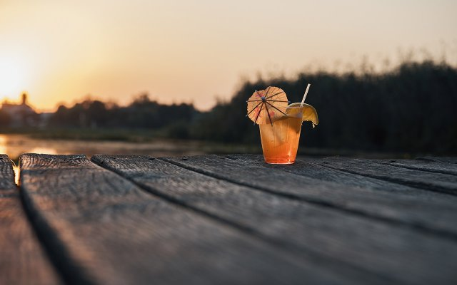 Cocktail on Dock