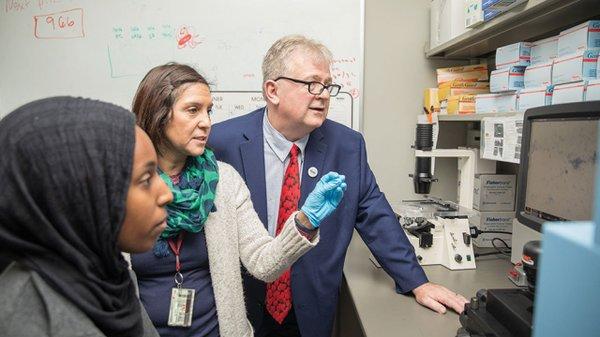 Dr. Mark R Schleiss evaluates data