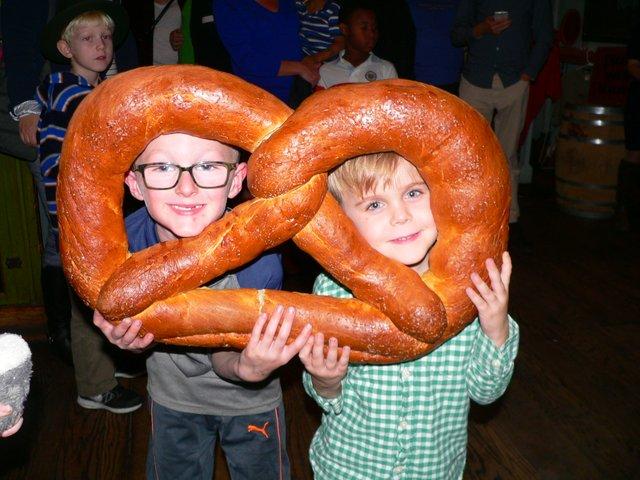 Kids having fun at Oktoberfest
