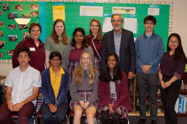 Prefects with Carl Bistany
