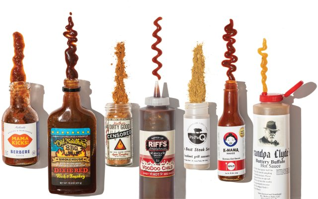Sample of sauces and spices